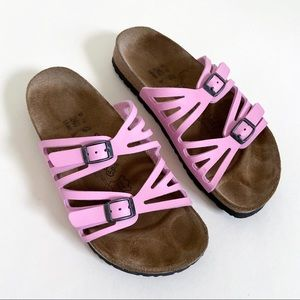 Pink Two Strap Birkenstock Sandals